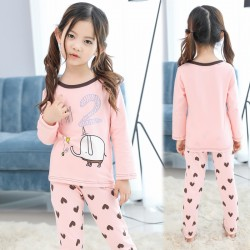 Cartoon Print Girls Pajamas Sets Children Clothes Little Girls Sleepwear