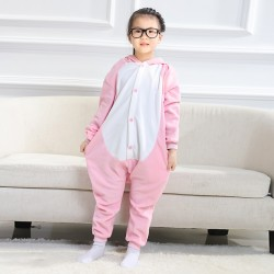 Child Pajamas Pink Pig Animal Costume Onesies