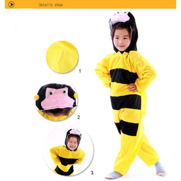 Lovely Kids Unisex Children Animal Onesie bee