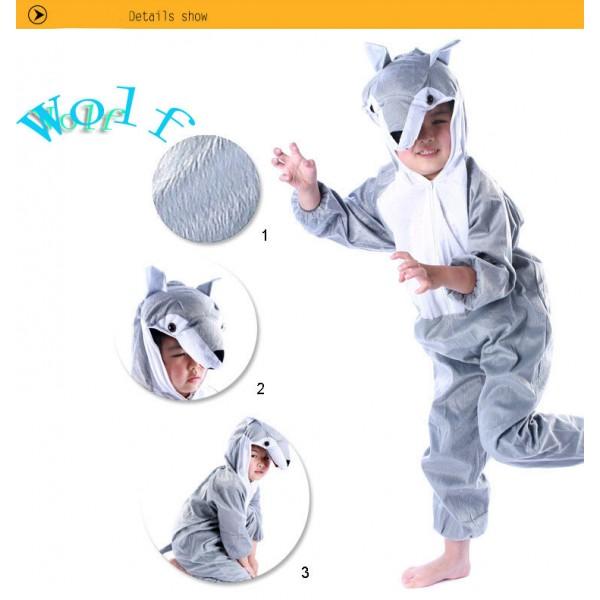 Lovely Kids Unisex Children Onesie Pajamas Animal Onesie wolf