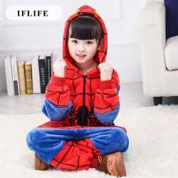 Kids Animal Cartoon Pajama Spiderman Red Children Boy Girl