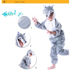 Lovely Kids Unisex Children Onesie Pajamas Animal Onesie wolf