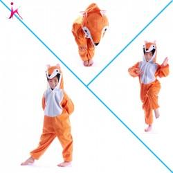 Lovely Kids Unisex Children Animal Pajamas Children Cartoon Onesie Fox