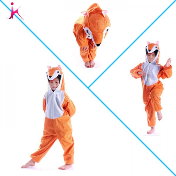Lovely Kids Unisex Children Animal Pajamas Children Cartoon Onesie Fox