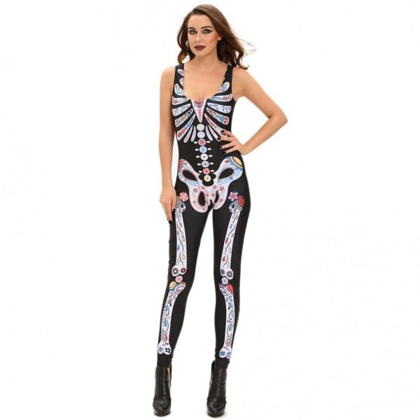 Skeleton Cosplay Costume nightclub sexy Onesie