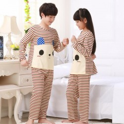 Autumn winter children kids pajamas boys girls pajamas set