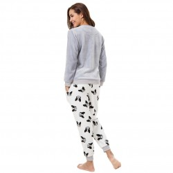 Flannel Pajamas Set Sweatshirt + Pants + Eye Mask