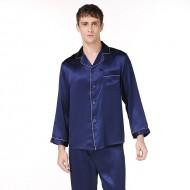 Silk Men Long-Sleeved Pajama Sets