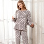 Fashion Women Pajama Set Ladies Flannel Coral Velvet Pajamas