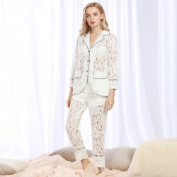 Lace Pajama Set Summer Sleepwear for Women