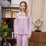 Winter Pajamas Double-sided Velvet Pajama Set Princess Lace Women Pajamas