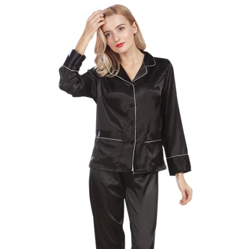 2575eb343a629a Women Pajama Sets Summer Silk Pajamas Set
