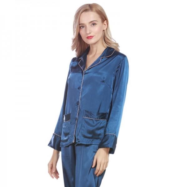 Women Pajama Sets Summer Silk Pajamas Set