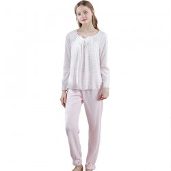 Cute Women Princess Bowknot Pajamas Set Pink Pajamas