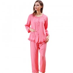 Cotton Pajamas Set 2 Pieces Lady Comfortable Pajamas