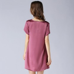 Summer Short Sleeves Sexy Silk Pajamas for Women
