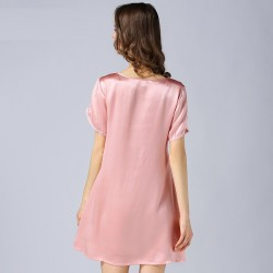 2017 Short Sleeves Silk Pajamas for Women