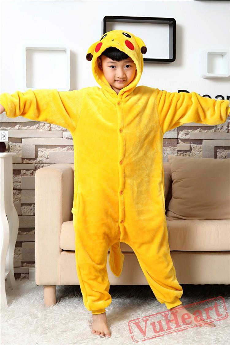 Kids Pikachu Kigurumi Onesies